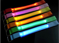 Wholesale Mesh Style LED Flexible Flashing Safety Armbands Red Orange Yellow Blue Green Pink colors cm