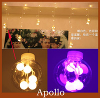 Wholesale Xmas Led Curtain Light m m Glass Ball Christmas Party Wedding Holiday Decoration String Fairy Lamp