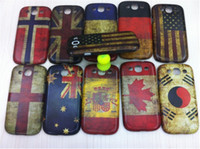 Wholesale Vintage UK USA Flag Design Case Keep Clam and Carry On Hard Back Case For Samsung I9300 I9308 Case