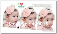 Flower baby headbands with hair attached - Lace Baby Headband With lace flower Attached Hair band available in colors C299