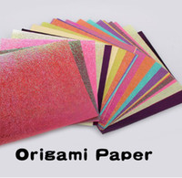 Wholesale Colorful Sparkling Crane Bird Boat Animal Star Lucky Origami Paper arts and crafts paper