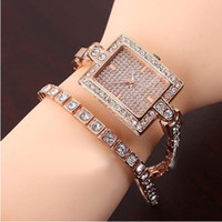 Wholesale 2013 New Fashion Ladies Rose Gold Rhinestone Diamond Quartz ladies Wristwatches Top Quality