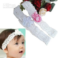 Wholesale Girl Baby Child Infant Lace Headband Head Hair band Flower Christening Gift Hoop