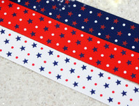 Wholesale hot fashion quot mm color stars yards children Hair Bow DIY grosgrain ribbons