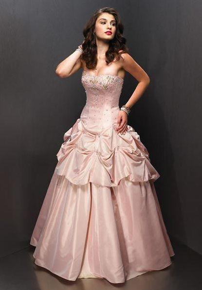 Light Pink Quinceanera Dresses Taffeta Strapless Lace Up Sequin ...