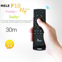 Wholesale Mele new arrival Fly Mouse F10 in Air mouse Wireless mouse Keyboard Remote control