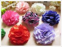 Flower Cotton 1-50piece/lot 30pcs Sample 11 Color (3.5inch Hair Flower+ Baby Alligator clips) Kids Flower Clips Fashion Headwear