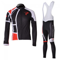 Wholesale Winter clothes Pinarello Black Winter long sleeve cycling jerseys bib pants bike bicycle therm