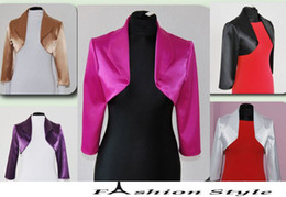 Wholesale Wedding Satin Bolero Shrug Jacket Stole Length Sleeve