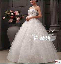 Wholesale Short Strapless Sweetheart Dresses - 287 2016 bridal gowns fashionab;e sexy heavy beadings sweetheart ball gown wedding dresses plus size vestido de noiva