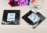 Wholesale Fashionable Glass Coaster Glass Cup Pad Glass Cup Mat Photo Frame Mat for Gift Crafts
