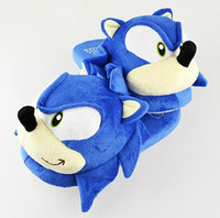 Wholesale Sonic slippers blue Plush Doll inch Adult Plush Sonic Slipper Dropship Retail