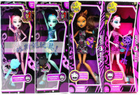 Wholesale Monster High Fashion Dolls set Action Figure for kid s gift