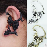 Wholesale vintage Gothic punk jewelry auspicious dragon personality Ear Cuff Wrap Clip earrings