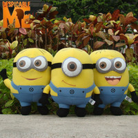 Wholesale 9inch Despicable Me Minion Plush Doll D Eyes Minions Dave Jorge Stewart Plush Toy