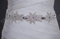Adults belt elastic women - Glamorous Dazzing Crystal Beaded wedding dress sashes bride dress belt wedding accessory Bridal Sashes