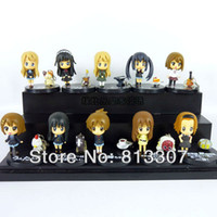 Wholesale Set of Cute Anime K ON Mio Akiyama PVC figure toy Set k on figures