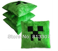 Wholesale Minecraft game Creeper pillow cotton plush Minecraft Pillow Creeper Inspired Cushion