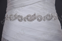 Wholesale Dazzing Crystals beaded wedding dress sashes wedding dress belt wedding accessory