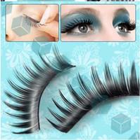 Wholesale 100pcs Hot Sell black False Eyelashes long Thicken Fake Eye lashes Eyelash Extension synthetic LM026