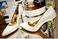 Pumps lace wedding shoes - 2013 New Style cm Lace Bridal High Heels Shoes Wedding Bridesmaid Shoes Party Shoe Size RYH