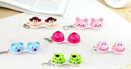 Wholesale Animal Contact Lens Case animal Lenses Box Color Cute Contact lens case Cartoon Glasses box