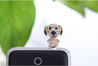 Wholesale p058_Mini dog phone Dust plug over drilling in the fashion hot air dust plugs phone accessori