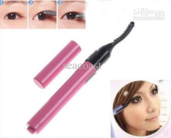 Best Price Pink Portable Electric Heated Eyelash Curler Eye Lashes ...