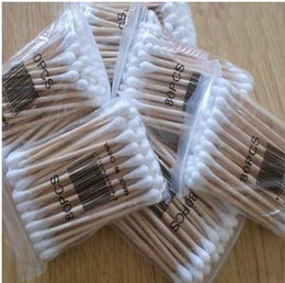 Wholesale health cotton swab double slider swab wool antibiotic make up stick