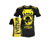 Wholesale 100 New MMA Wanderlei Silva Venum Wand Team TUF Brazil short sleeve blue t shirt cotton gt AA01