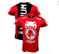 Wholesale 100 New MMA Wanderlei Silva Venum Wand Team TUF Brazil short sleeve blue t shirt cotton gt red