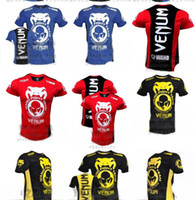 Wholesale 100 New MMA Wanderlei Silva Venum Wand Team TUF Brazil short sleeve blue t shirt cotton gt AA88