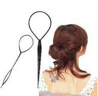 Wholesale 2Pairs New Topsy Tail Hair Braid Ponytail Styling Tool hair clip hair accessories hairband