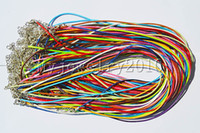 Wholesale Jewelry DIY Multicolor Mix color Waxed Cotton Necklace Cords With Clasp ac0025