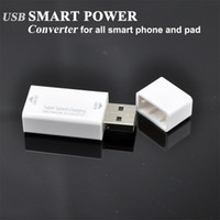 Wholesale 2013 NEW USB SMART POWER Converter for all smart phone and pad ipad BW S036C Patented product
