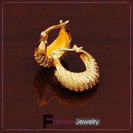 Jewellery Fabulous women's 18k yellow gold moon earring silkworm 18mm 100% real gold, not solid not money.