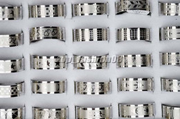 50pcs Stainless steel Mixed Design Men's Rings jewelry 17-22mm #R158