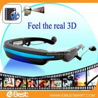 Wholesale NEW GB quot Virtual Screen D Video Glasses Cinema Eyewear Mobile Theatre Music Player Ebook