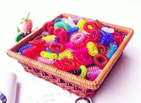 Wholesale Korean plastic Telephone line hair ring Not wrapped around hair band amp pieces mix color