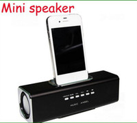 Wholesale Aluminum multi function Docking speaker for iPhone iPod music angle portable speakers brick speake