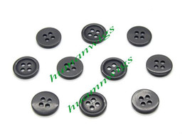 Wholesale 500pcs Hot Holes Black Resin Buttons for Clothes Sewing Crafts amp Scrapbooking mm LZD0031