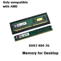Wholesale Brand New Sealed Desktop computer Ram G DDR2 Memory Only Compatible to AMD
