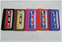 Silicone cassette case - Cassette Case Cover For Samsung Galaxy S4 I9500 Retro ClassicTape Soft Silicone Rubber Back Skin