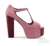 Women Chunky Heel  Fashion Fashion cheap pink high heels sandals jh54