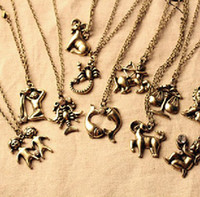 South American zodiac charms - vintage Zodiac Charms Necklaces twelve constellations pendant Hot charm Gift cheap fashion jewelry