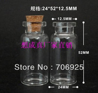 Wholesale 15ml Clear Glass Wishing Bottles with cork essential oil bottle pieces