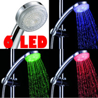 Wholesale Shower Head LED Temperature Sensor Shower Nozzle Water Glow Controlled Automatic RGB Spray Head