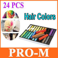 Wholesale 24Pcs Fashion Non toxic Temporary Color Hair Chalk Dye Pastels Dropshipping