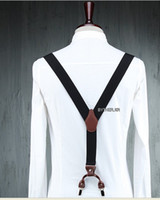 Wholesale 35pcs Adjust Unisex Clip on Braces Elastic Y back Suspenders
