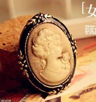 Wholesale Vintage cameo Brooches new Queen head rhinestone brooch hot corsage charm gift cheap fashion jewelry